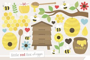 Bees & Honey Clipart