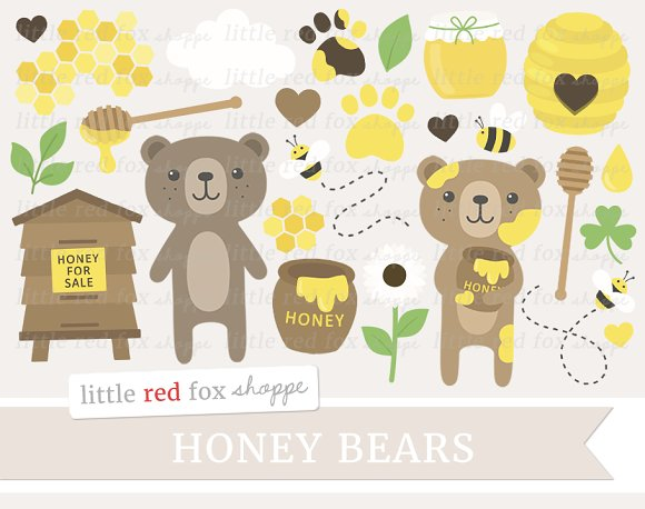 Honey Bears Clipart