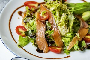 Salmon salad healthy menu