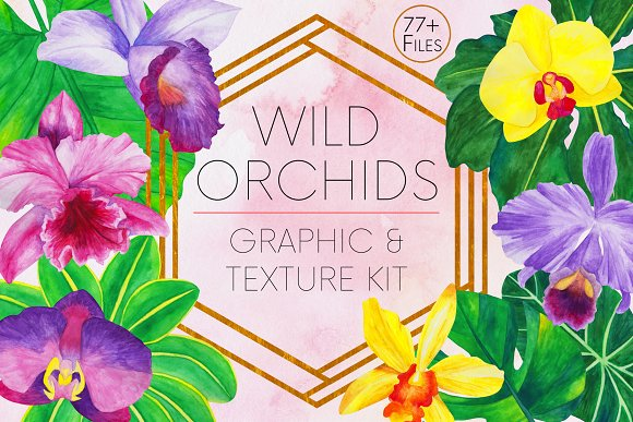 Wild Orchids Graphic And Texture Kit