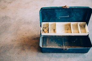 Blue Rusty Metal Toolbox 2
