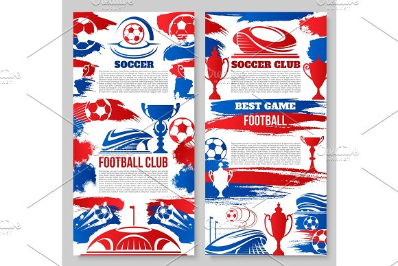 Vector Soccer Football Club Posters
