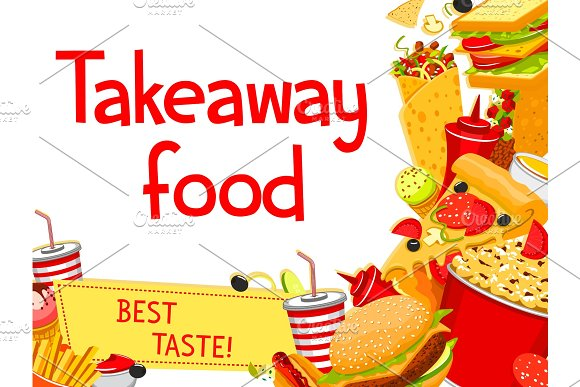 Vector Fast Food Takeaway Menu Poster Design