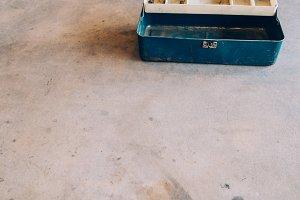 Blue Rusty Metal Toolbox 3