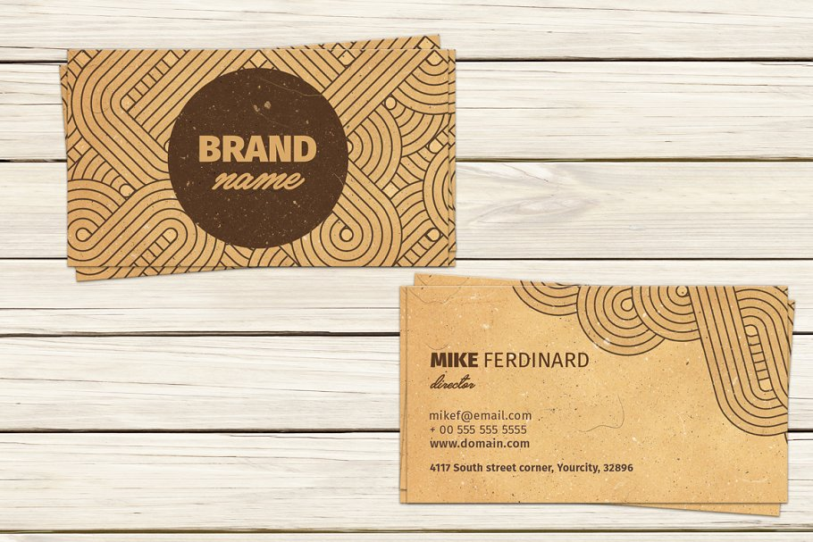 Vintage artistic business card business card templates creative vintage artistic business card reheart Image collections