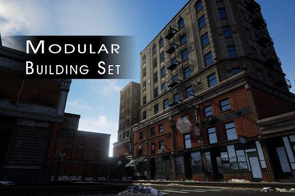 3D Urban - Game & Film - Building Set Modular
