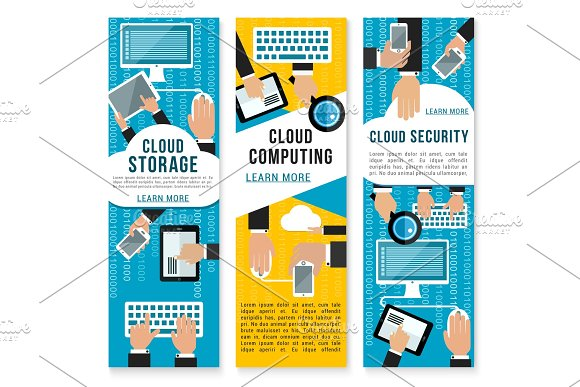 Vector Cloud Internet Technology Banners
