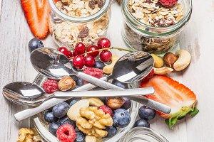 Healthy breakfast muesli bar