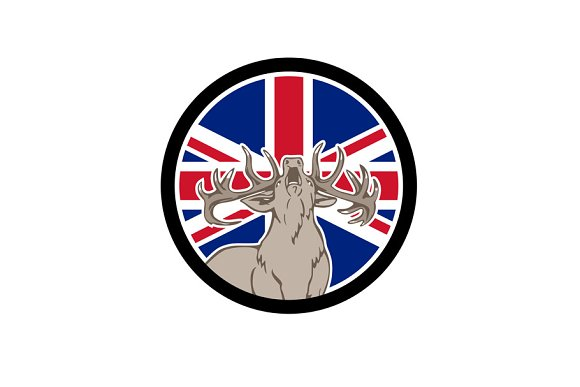 Red Deer Union Jack Flag Icon