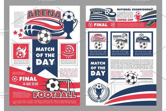 Vector Soccer Football Match Posters