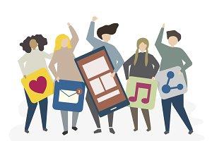 Illustration of social network