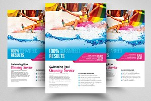 Pool Cleaning Service Psd Flyers