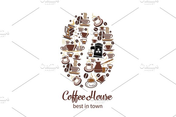 Vector Coffeehouse Cafe And Coffee Poster