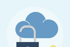Illustration of cloud security
