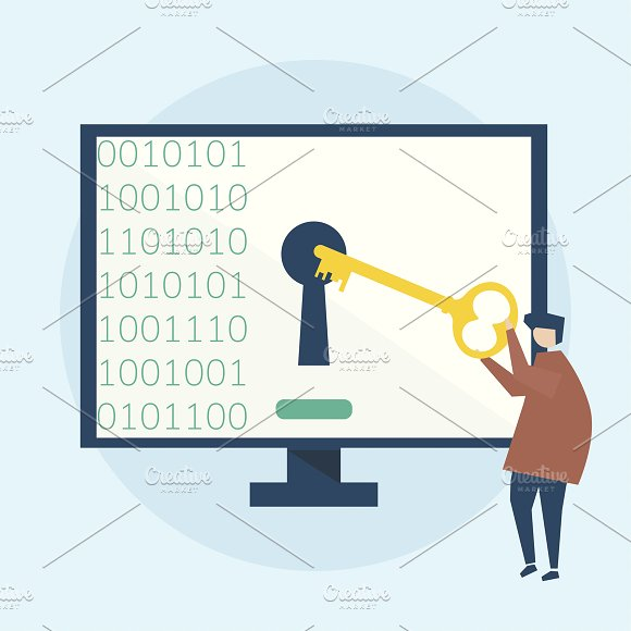 Illustration Of Computer Security