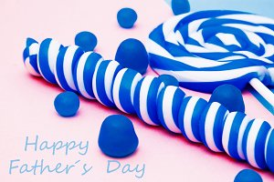 Father's day congratulation with col
