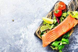 Delicious salmon fillet