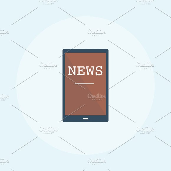 Illustration Of Online News