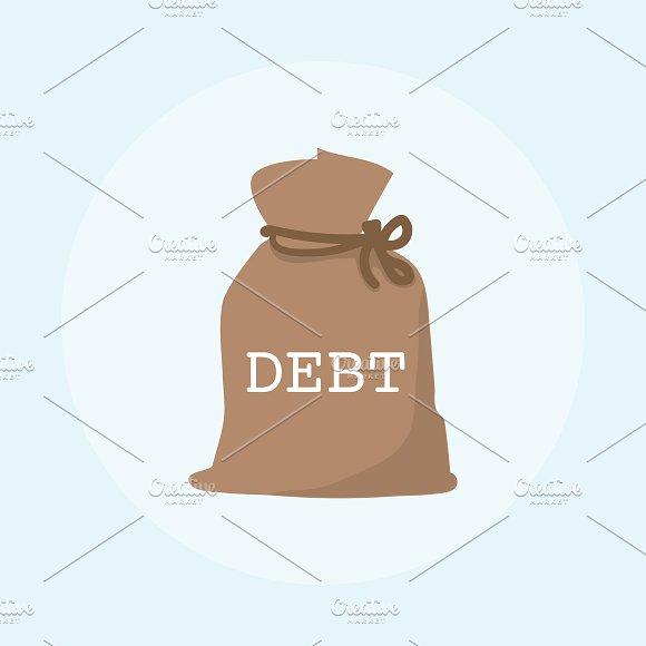 Illustration Of Debt Financial