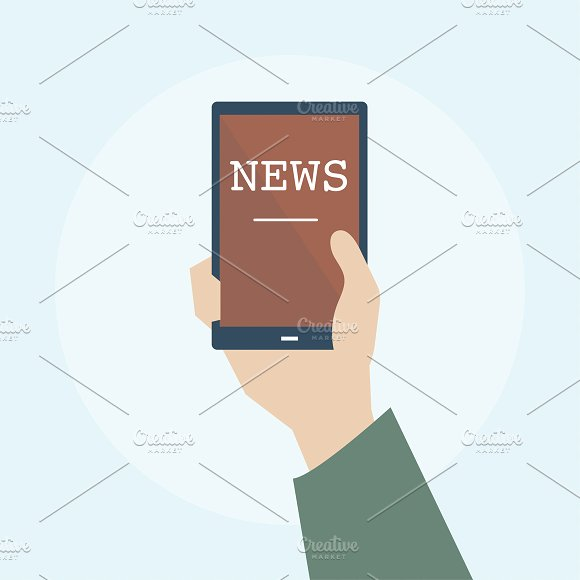 Illustration Of Online News Concept