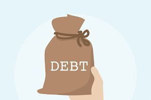 Illustration of debt financial