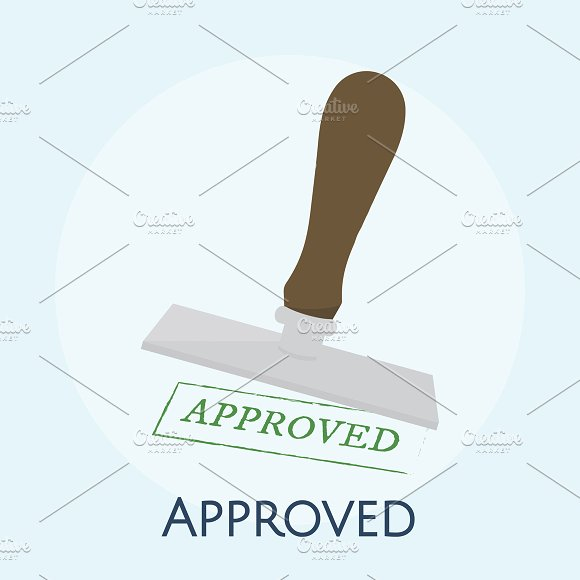 Illustration Of Approved Stamp