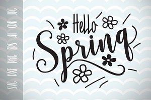 Hello Spring SVG Vector Image