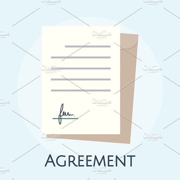 Illustration Of Business Agreement