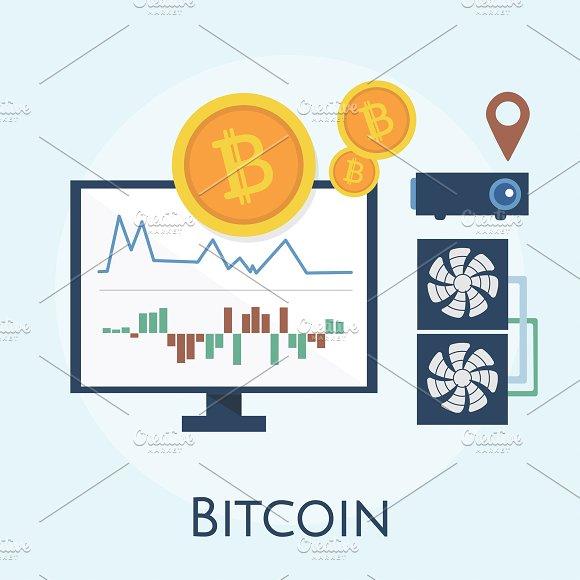Illustration Of Bitcoin Concept