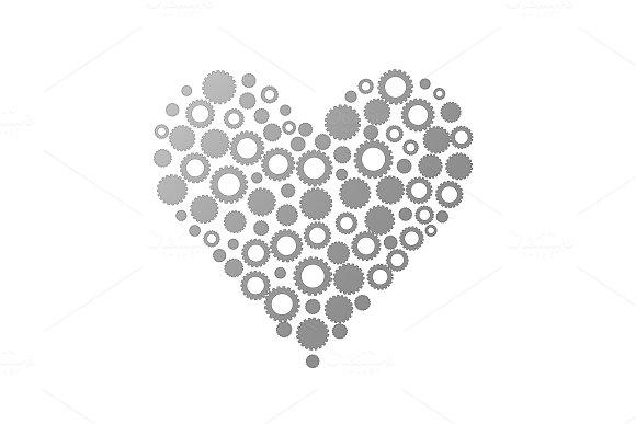 Gears In Shape Of Heart