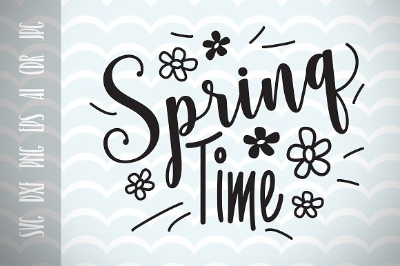 Spring Decor Spring Time SVG Vector
