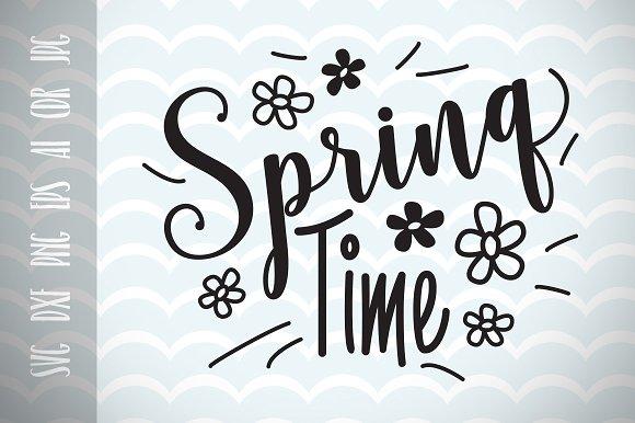Spring Decor Spring Time SVG Vector