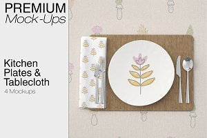 Plates Napkins & Tablecloth Set