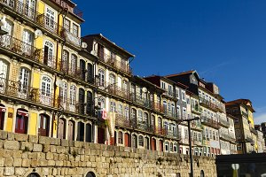 Colorful houses in Porto