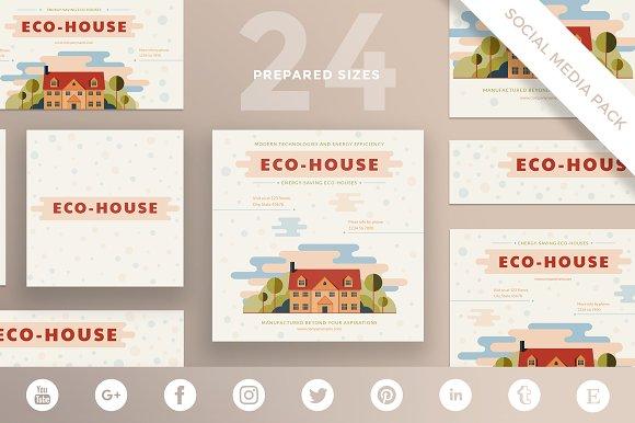 Social Media Pack Eco House
