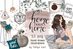 Home Hygge Home Hand Painted Design