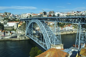 Iron bridge in the city of Porto