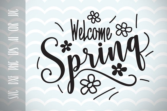 Welcome Spring Spring Decor SVG