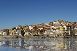 City of Porto reflected in the Douro