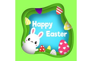Happy easter Egg hunt banner