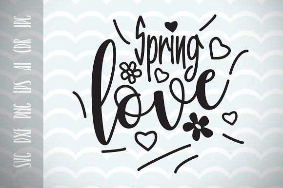 Spring And Love SVG Vector Image