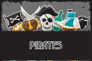 Backgrounds on pirate theme.