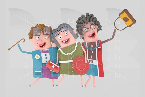 Happy Old Ladies Posing Photo