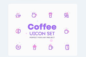 Coffee Shop Icons Set