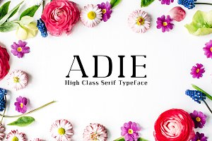 Adie High Class Serif 4 Font Family