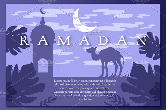 Ramadan Landscape With Mosque