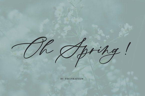 Oh Spring Calligraphy Font