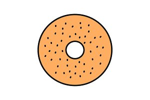 Bagel color icon