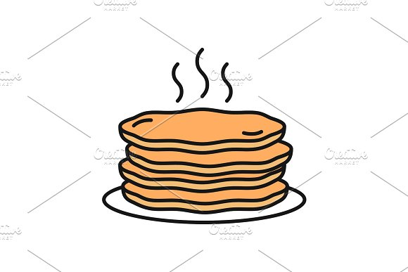 Pancakes Stack Color Icon