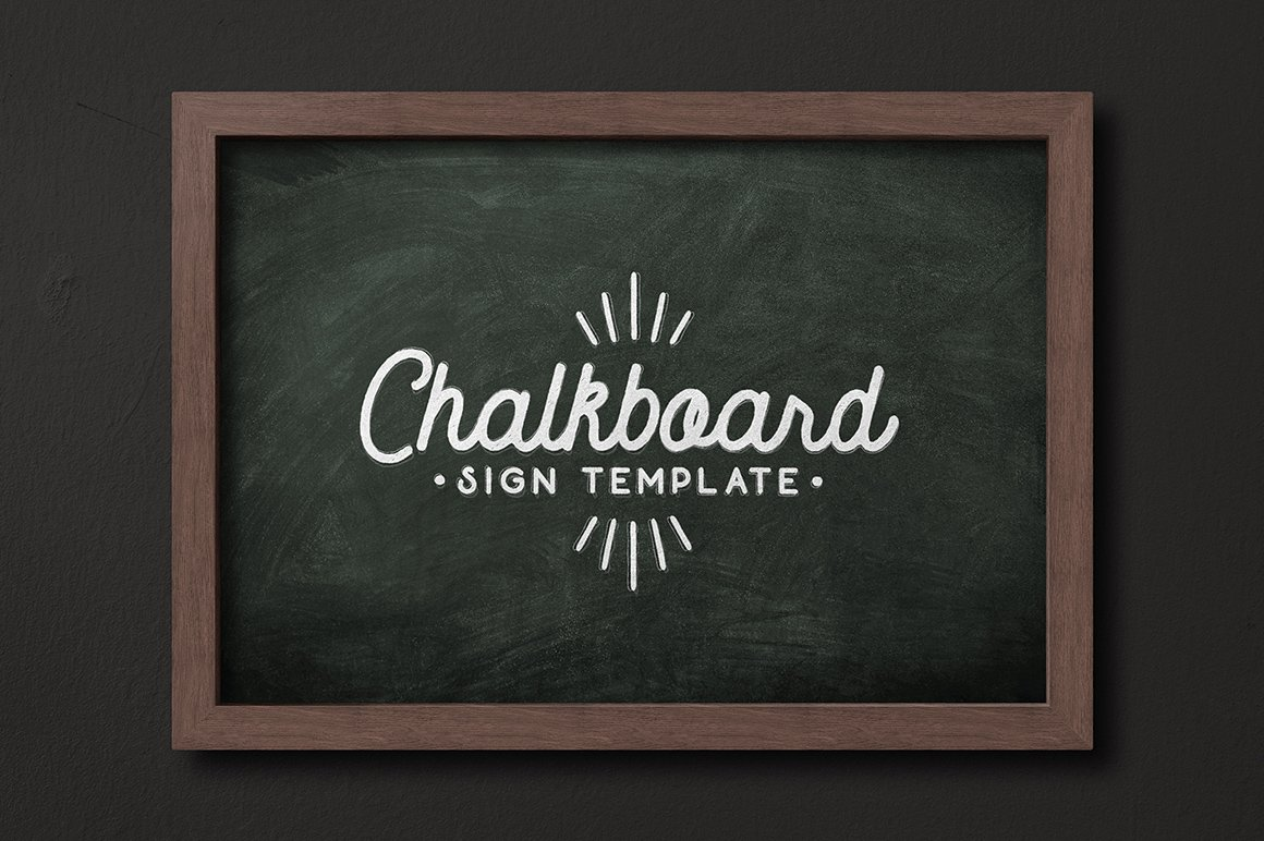 Chalkboard Sign Template Mockup Templates Creative Market